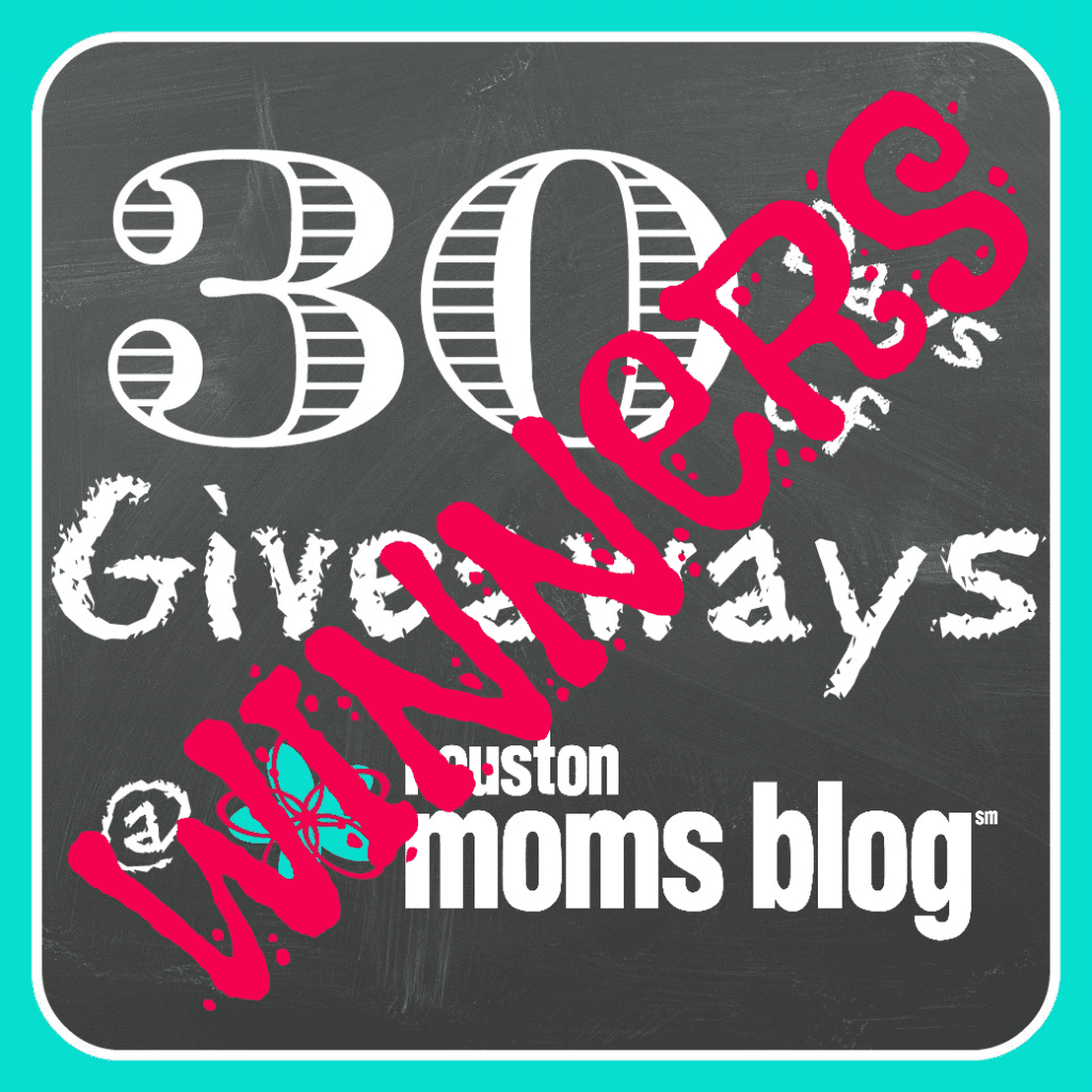 30 Days of Giveaways - Winners
