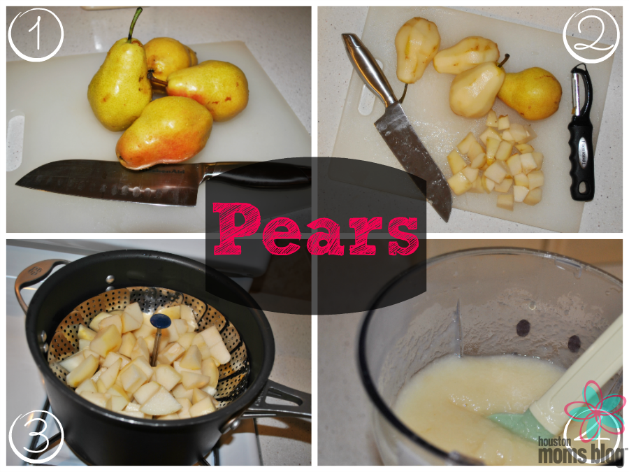 Homemade First Foods - Pears