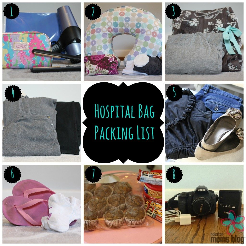 Hospital Bag Packing List Collage