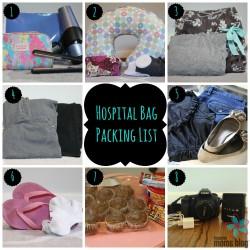 Hospital Bag Packing List Collage