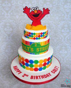 Smash Cakery Elmo Cake