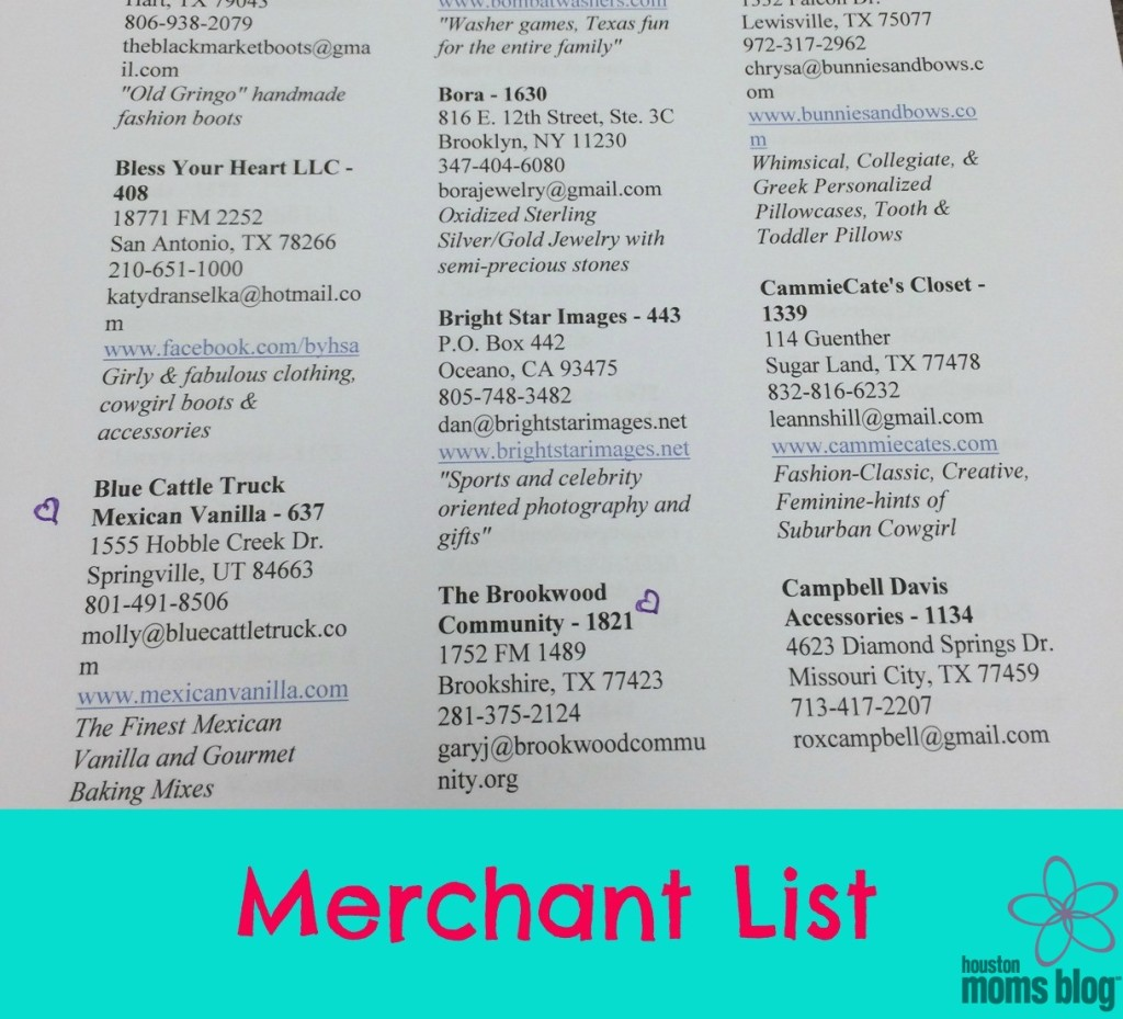 Nutcracker Merchant List
