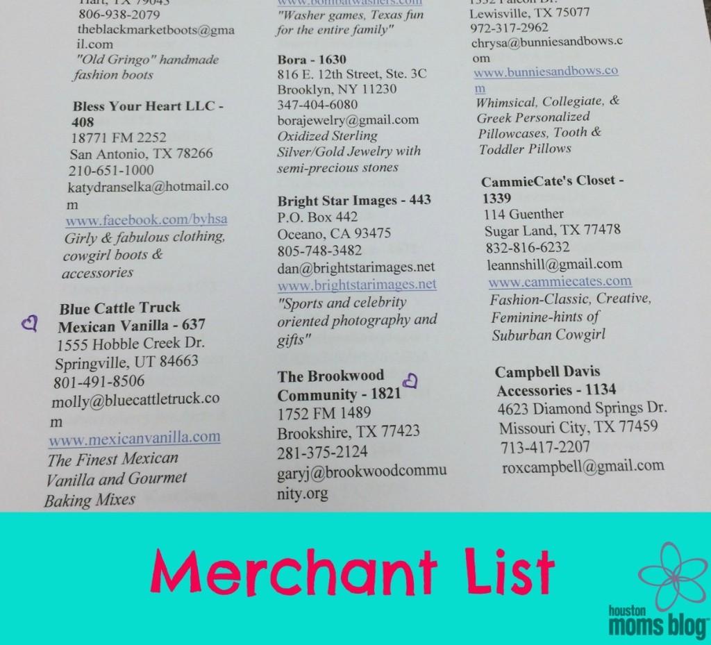 Nutcracker Merchant List