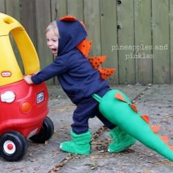 pinterest inspired dinosaur tail
