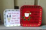 Too Cute - Santa & Rudolph Plates