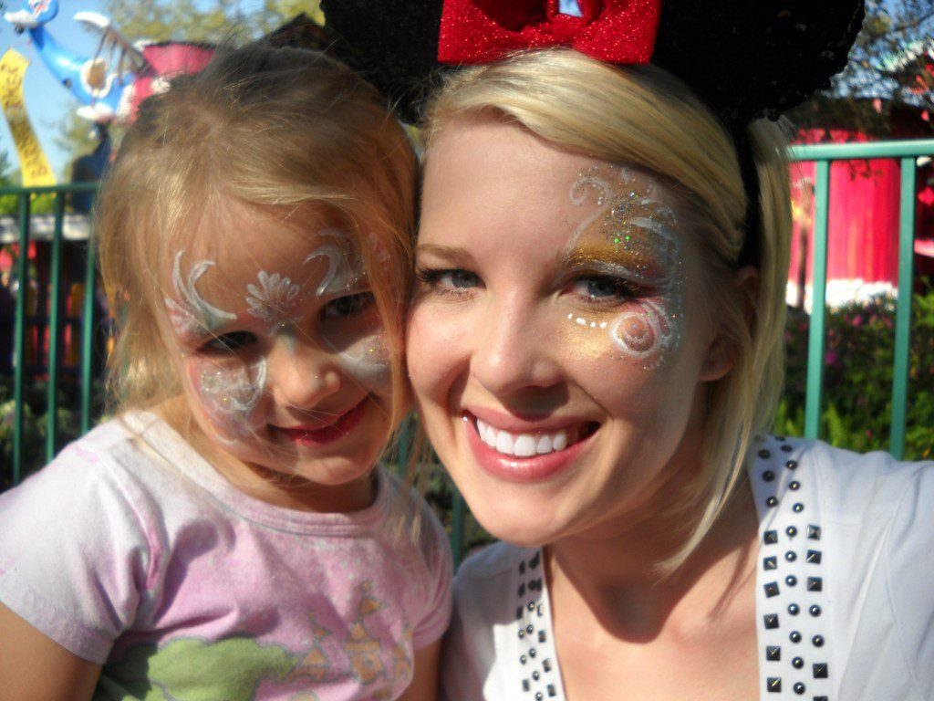 Eden and Mom at Disney
