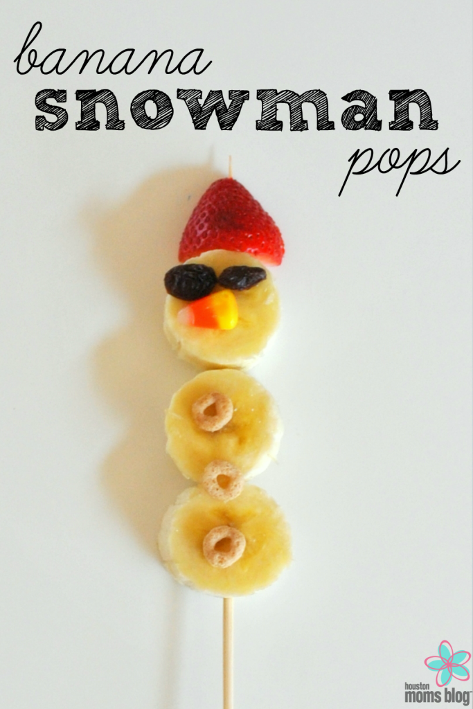 Banana Snowman Pops