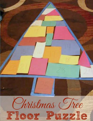 Christmas Tree Floor Puzzle