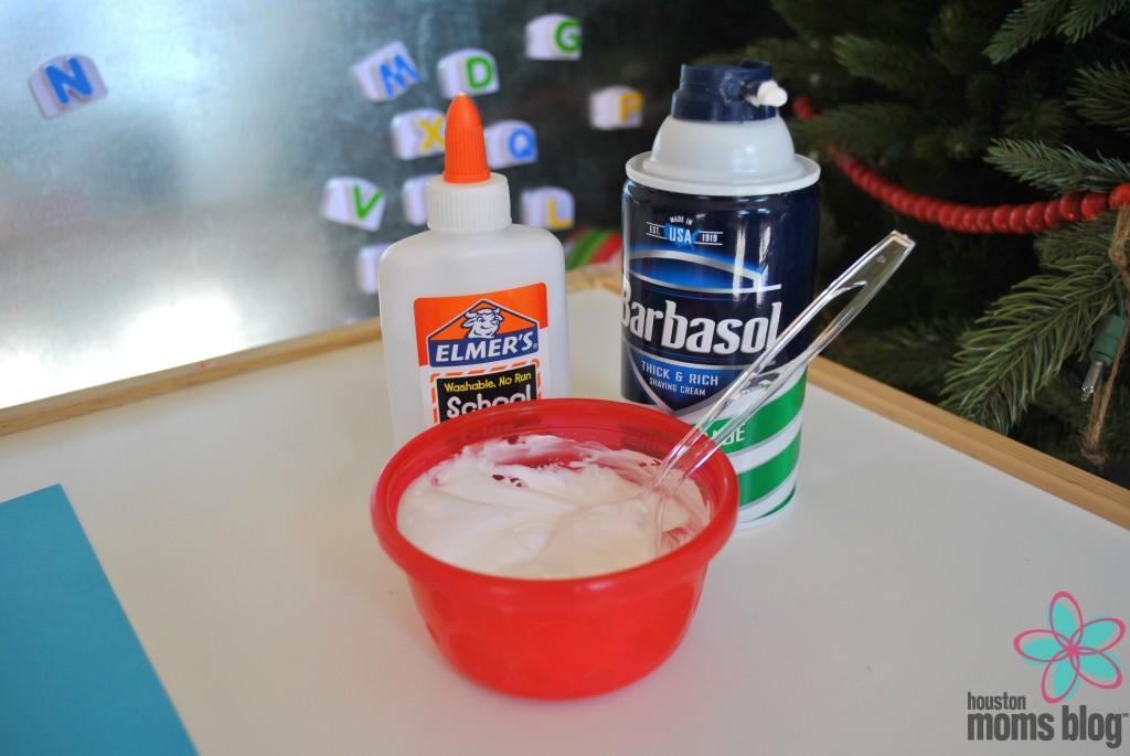 Homemade Puffy Paint Snowman (2)