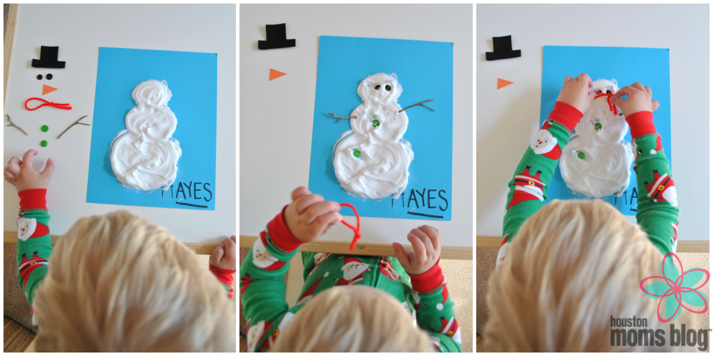 Homemade Puffy Paint Snowman (4)