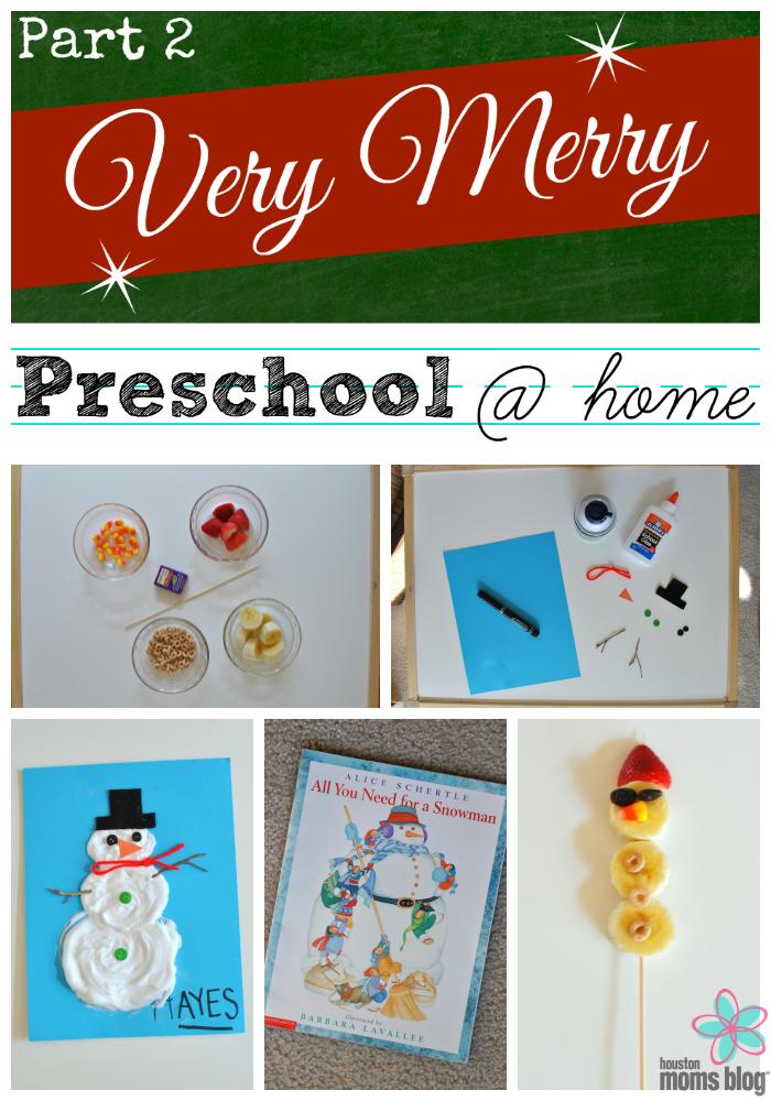 Very Merry Preschool at Home Part 2