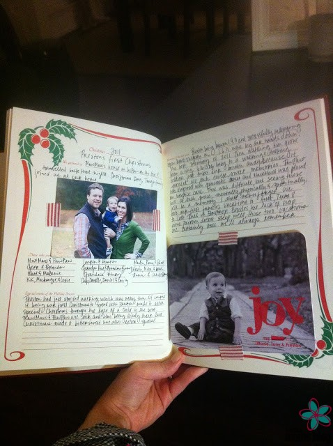 our entry from 2011 - Christmas Memories Book