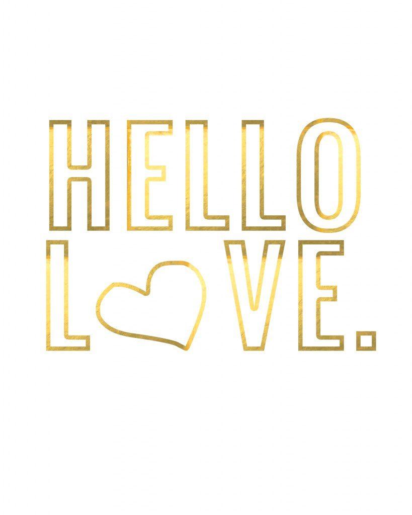 Hello Love Valentine's Day Free Printable