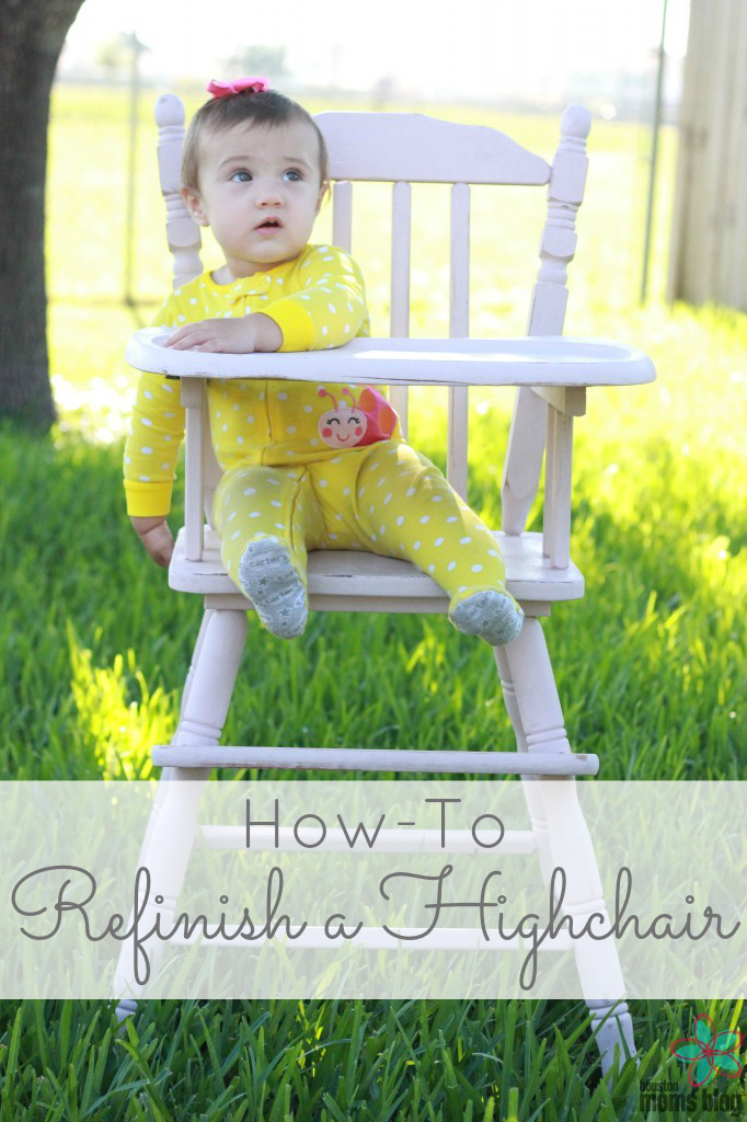 How-To Refinish Highchair