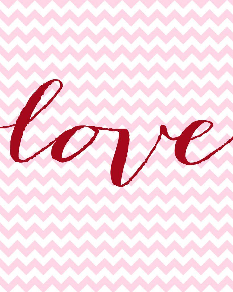 Love Valentine's Day Free Printable
