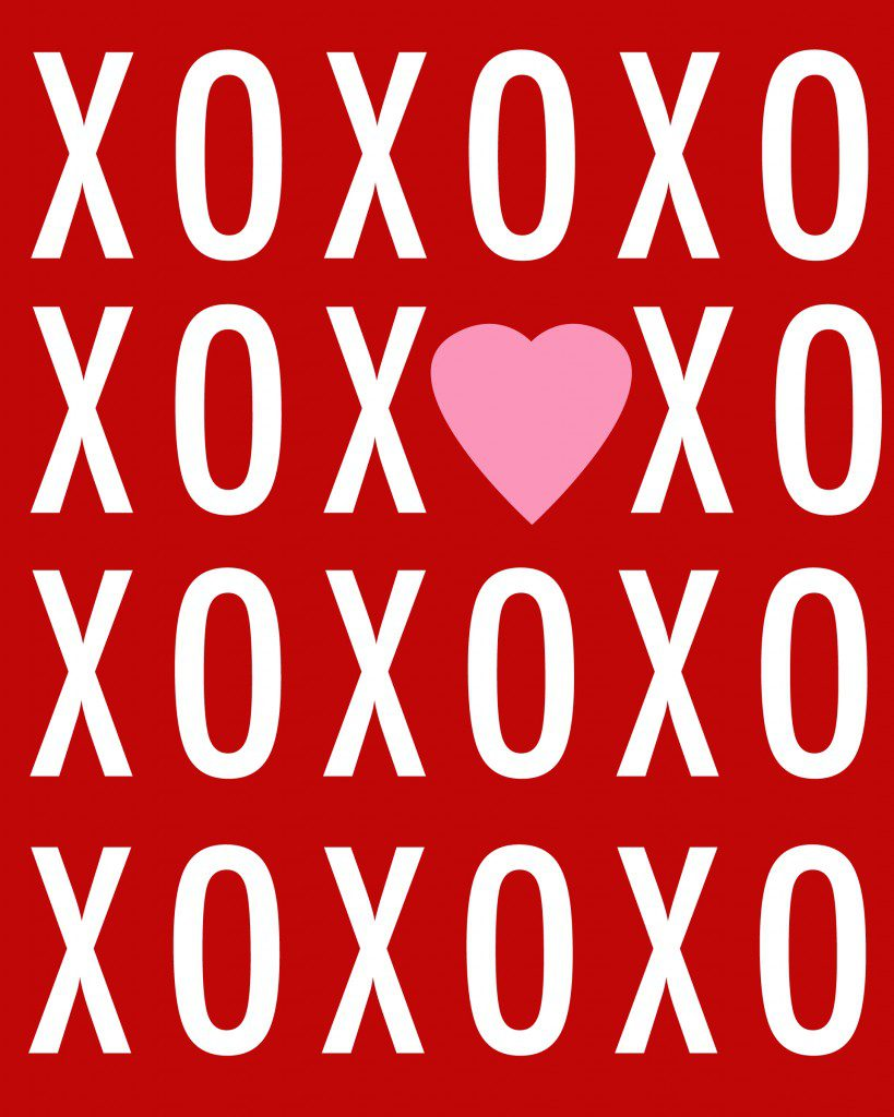xoxo Valentine's Day Printable