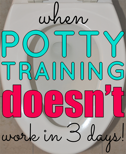 When Potty Training Doesn't Work in 3 Days