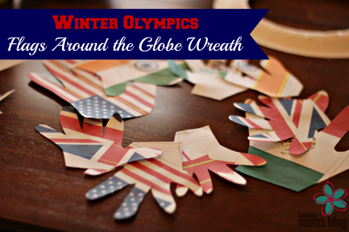 Winter Olympics Flags Around the Globe Wreath