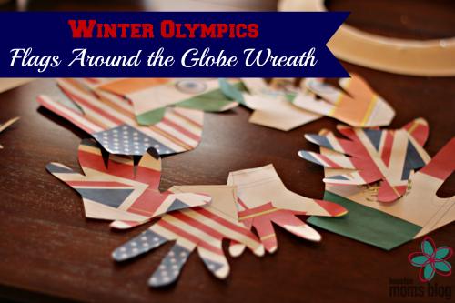 Winter Olympics Flags Around the Globe Wreath