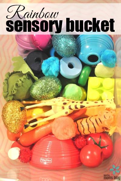 Rainbow Sensory Bucket