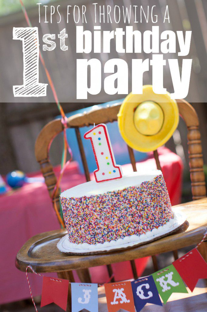 Throwing a First Birthday Party in Houston
