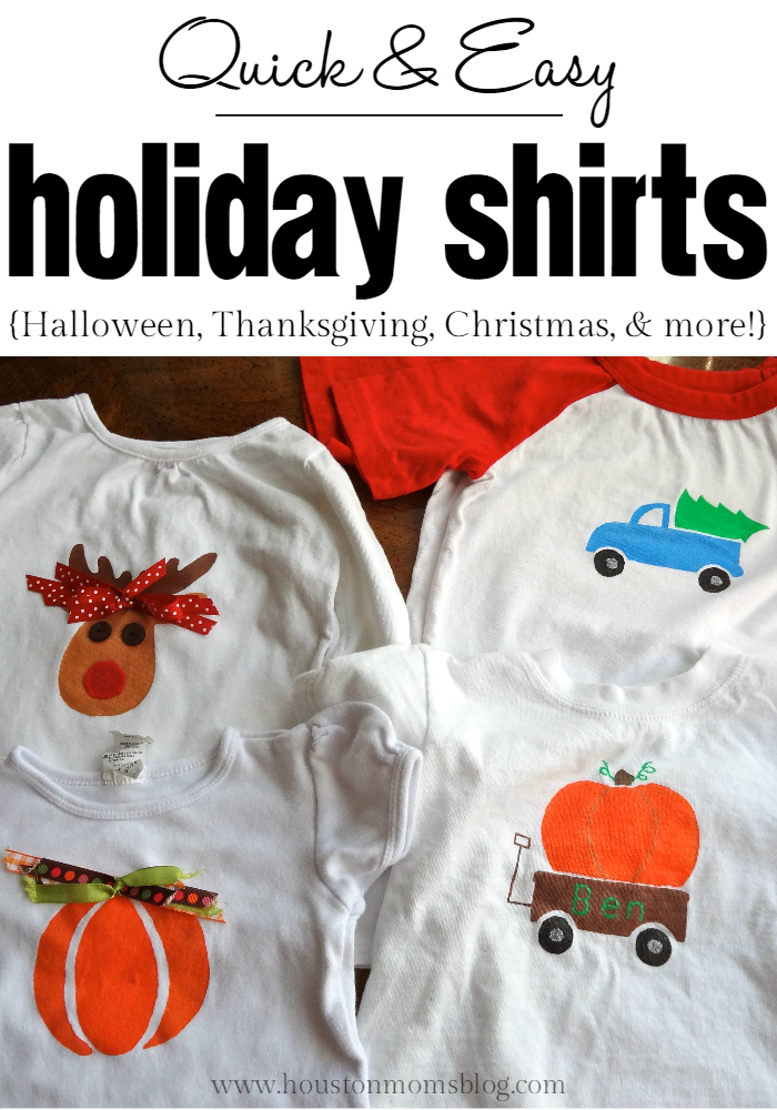 Quick & Easy DIY Holiday Shirts