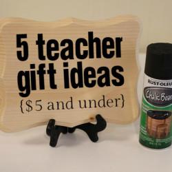 Teacher Gift Ideas Under $5 - Featured