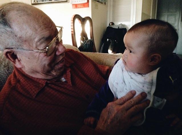 Kara with her maternal great-grandfather