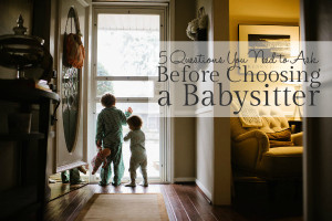 Babysitter Questions - Featured