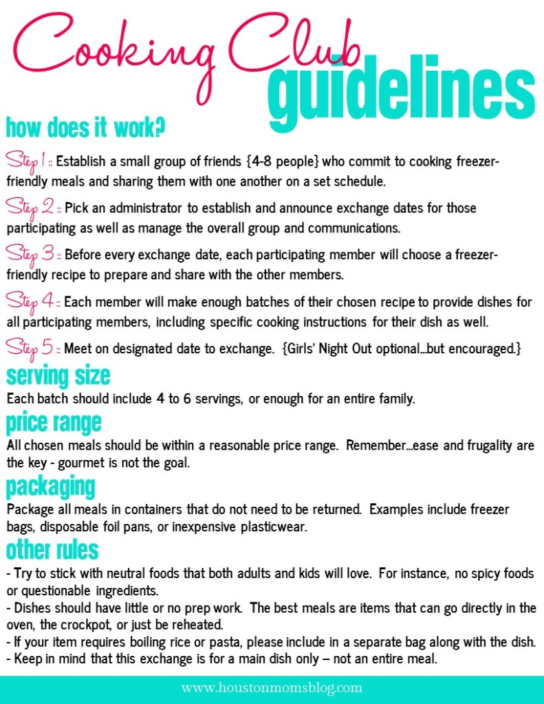 Cooking Club Guidelines