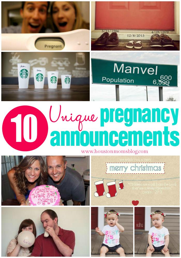 Unique Pregnancy Announcments