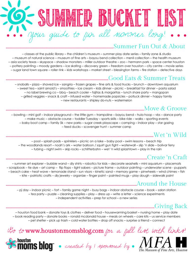 HMB Summer Bucket List - Updated