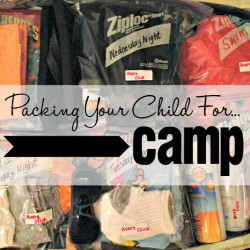 Packing Your Child For Camp - Featured