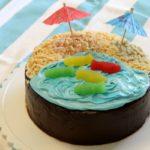 Kid Friendly Beach-Themed Cake