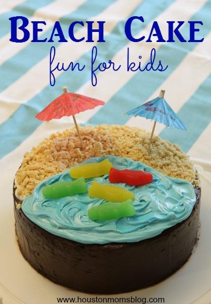 Swell Kid Friendly Beach Themed Cake Funny Birthday Cards Online Necthendildamsfinfo