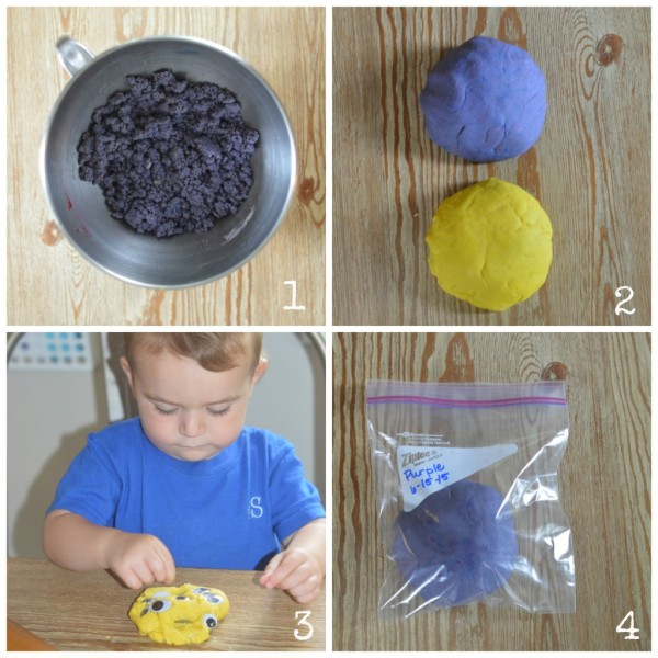 homemade play doh steps