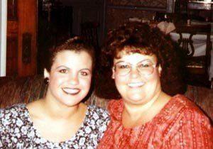 My mom and I, circa 1990