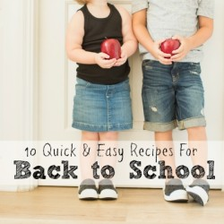 Back to School Recipes - Featured