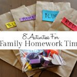 8 Preschool Activities for Family Homework Time