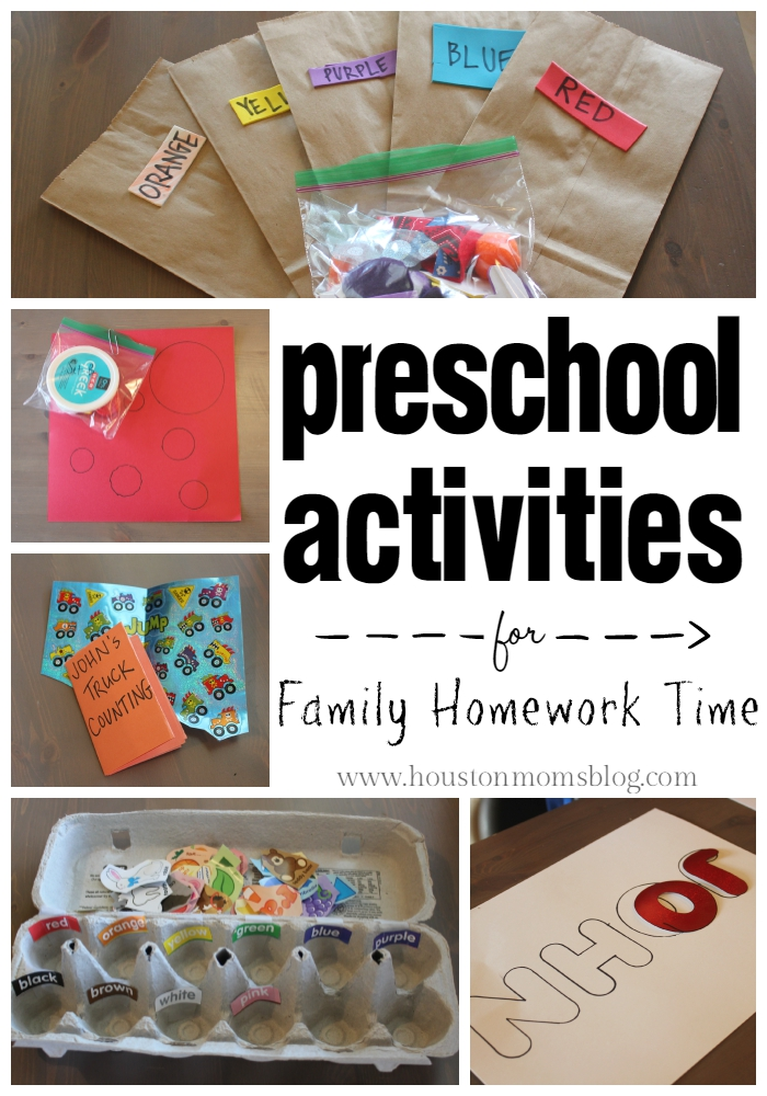 "Houston Moms ""Preschool Activities for Family Homework Time"" #houstonmomsblog #momsaroundhouston #houstonmoms"