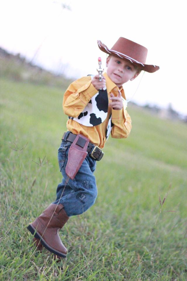... cowboy costume then all you have to do is buy some cow fabric and cut it in the shape of a vest! Buzz Lightyear would make a cute brother costume too.  sc 1 st  Houston Moms Blog - City Moms Blog Network & DIY Kidsu0027 Halloween Costumes | Houston Moms Blog