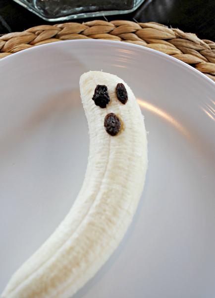Halloween Lunch - Banana Ghost