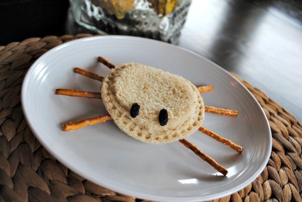 Halloween Lunch - Spider Sandwich