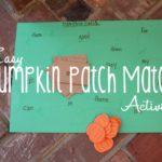 Easy Pumpkin Patch Match Activity