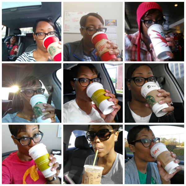 red cup collage