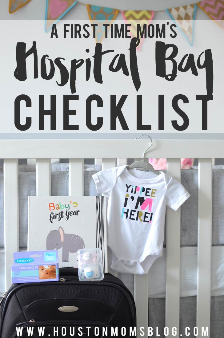 A First-Time Mom's Hospital Bag Checklist | Houston Moms Blog