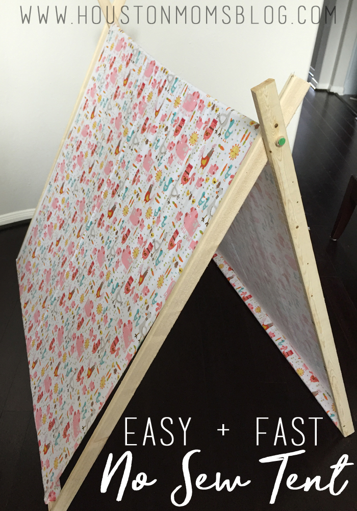 DIY {Easy + Fast!} No Sew Tent | Houston Moms Blog