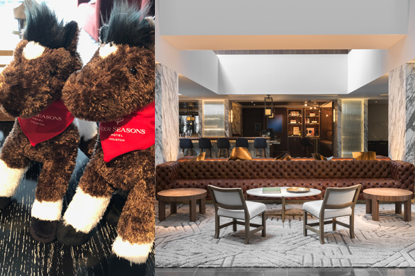 The Four Seasons Houston - Lobby and Stuffed Horses; Summer Splash Package
