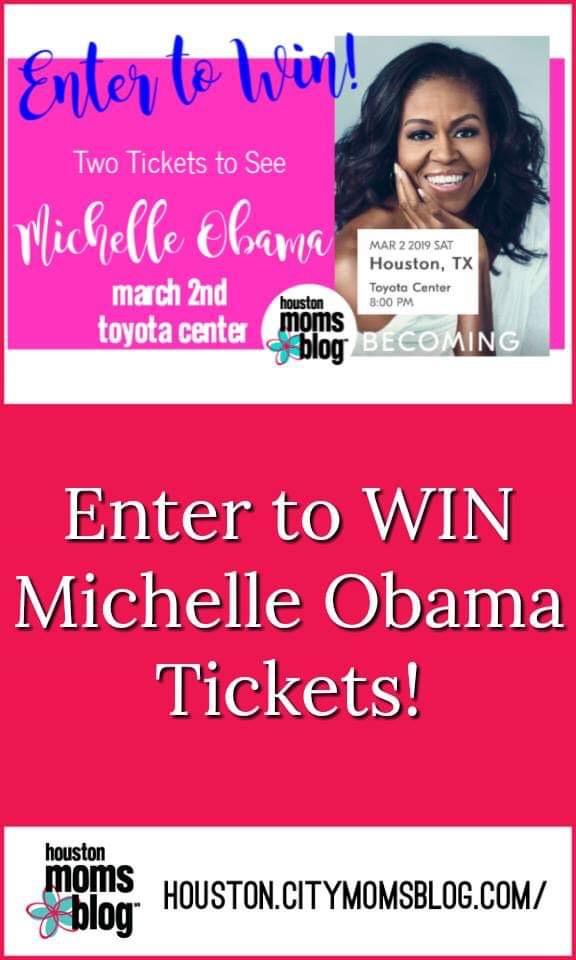 "Houston Moms Blog ""Enter to Win Michelle Obama Tickets!"" #houstonmomsblog #momsaroundhouston #michelleobama #obama"