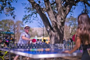 Outdoor table tennis at Levy Park_Photo by Morris Malakoff